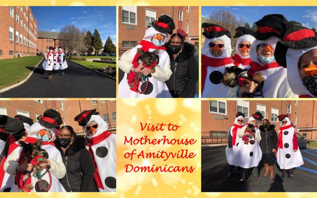 Snowmen Visit Amityville Motherhouse!